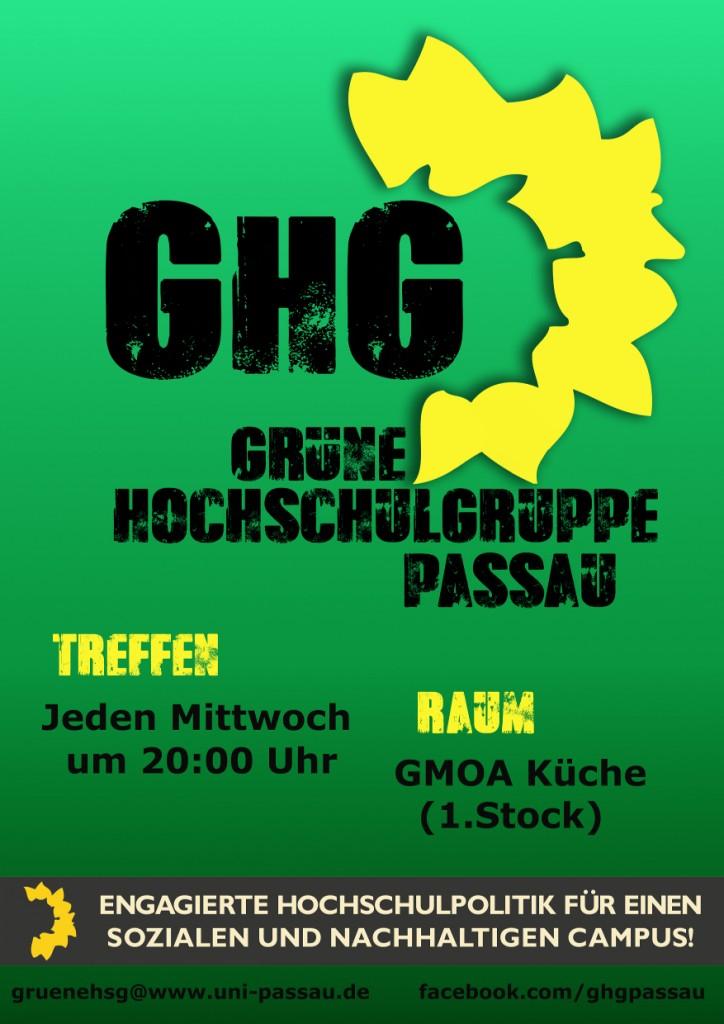 Treffen: Mittwoch 20 Uhr KSG-Küche über der Gmoa